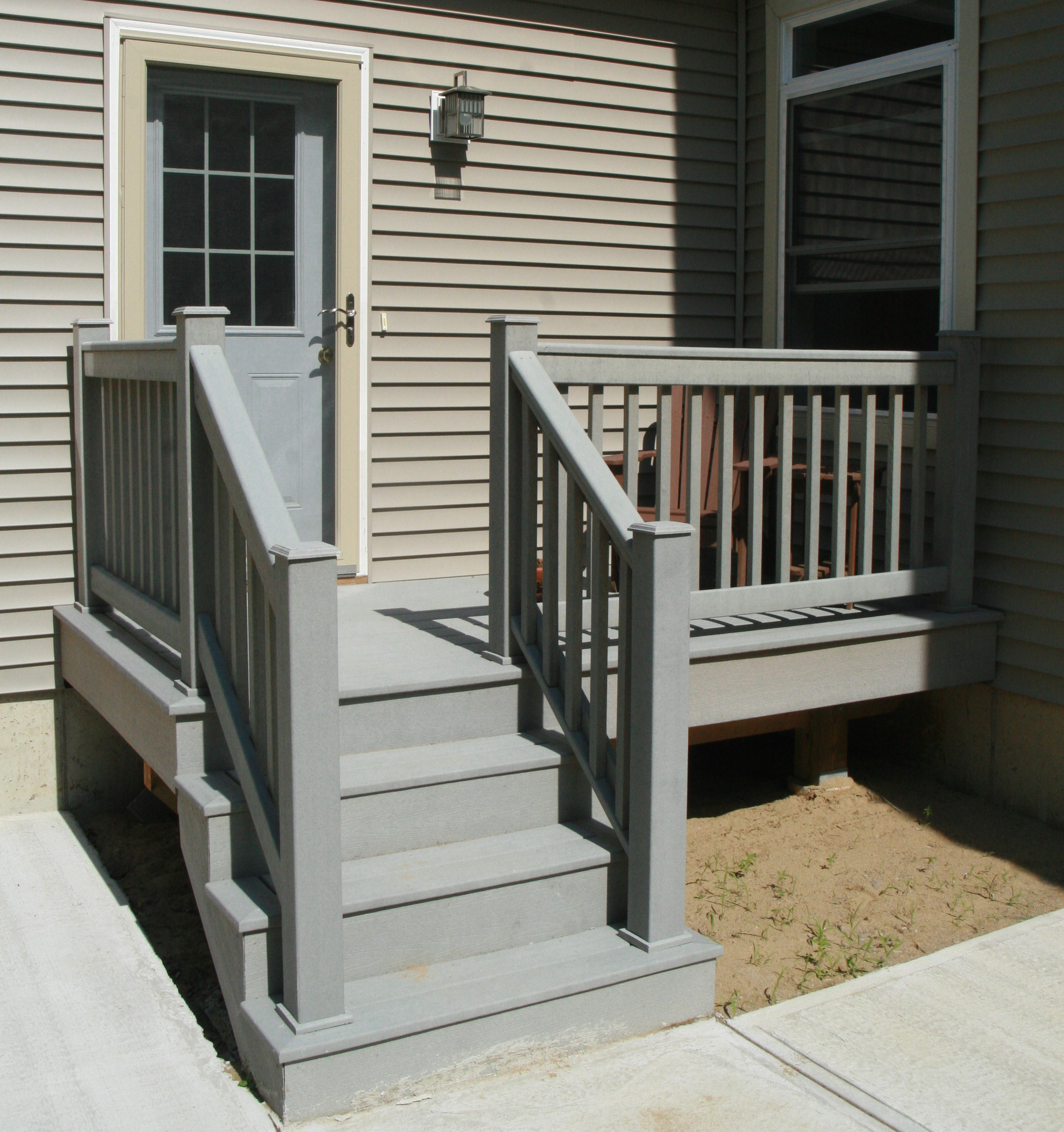 Build Wood Deck Stairs And Landing: Door Installation And Repair